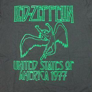 LED ZEPPELIN 1970's Retro band tee t-shirt L NEW